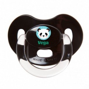Chupete Panda Rosa con Purpurina