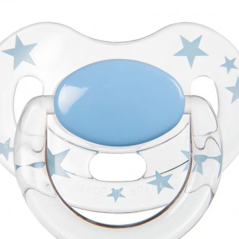 Chupete FPER Azul/Transparente con Estrellas