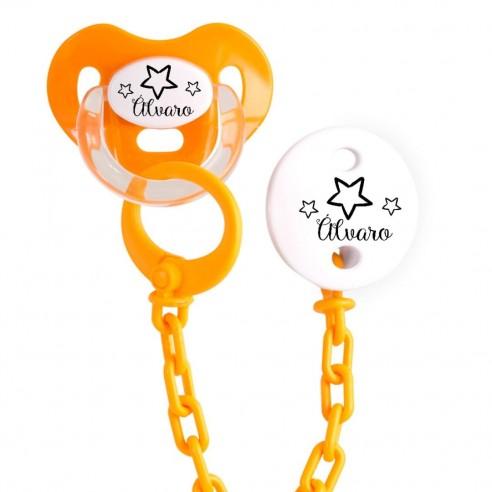Pack chupete y cadena FPER-F156 Naranja