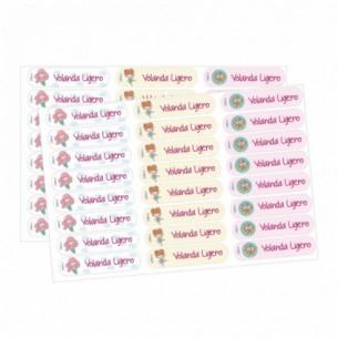 Etiqueta identificativa textil princesas