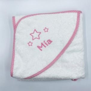 Capa baño estrellas rosa