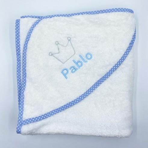 Capa baño corona azul