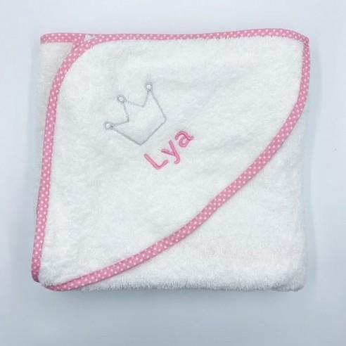 Capa baño corona rosa